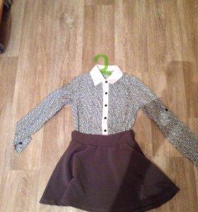 Рубашка+юбка