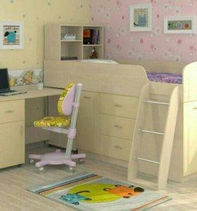 Кровать для детей Дюймовочка-1 дуб