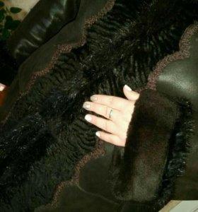 Дубленка женская натуральная.Большой размер