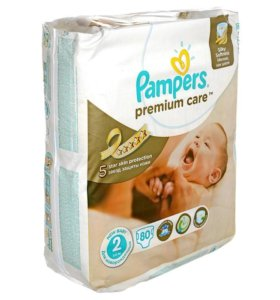 Подгузники Pampers Premium Care 2 Mini (3-6 кг) 80