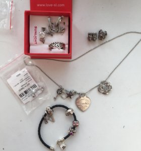 Pandora sl sokolov браслет и шармы