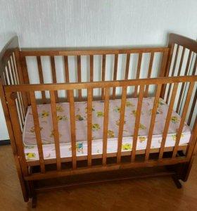 Кроватка детская+матрасик