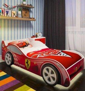 Кровать машинка Феррари (красная) Доставка завтра