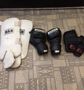 Перчатки и защита для ног и + груша