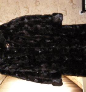 Норковая шуба из кусочков