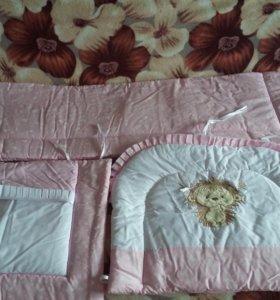 Комплект постельного белья детской кроватки новый