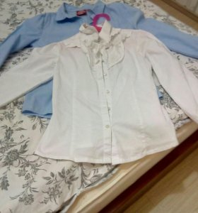 Школьный сарафан р.146 и две рубашки р. 134-140