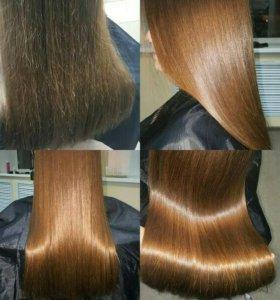 Запечатывание секущихся кончиков волос