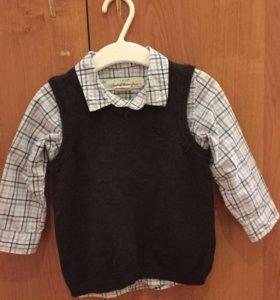 Комплект рубашка и безрукавка H&M