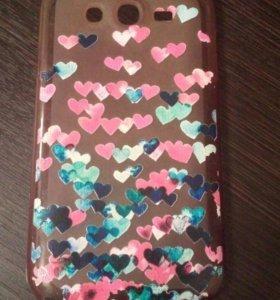 Чехол с сердечками на Samsung galaxy grand neo
