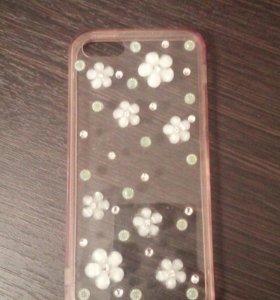 Чехол с цветочками на iPhone 5-5s