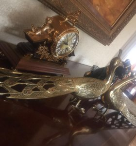 Статуэтки золотые Павлины