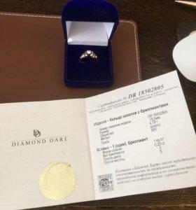 Кольцо с бриллиантом 0,23 ct