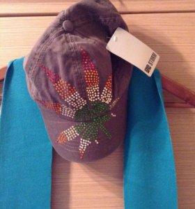 НОВЫЕ бейсболка кепка шарф шарфик