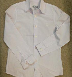 Рубашка белая для мальчика 10 лет.