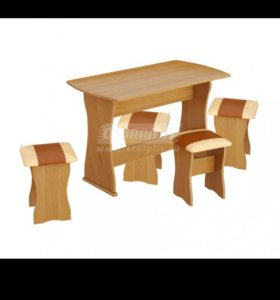 Новая обеденная группа (стол+4 табурета)