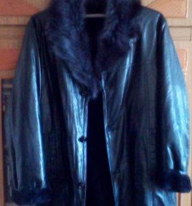 Куртка удлинённая на натуральном меху