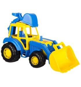 Трактор с двумя ковшами, 36 см, 3+. Новый