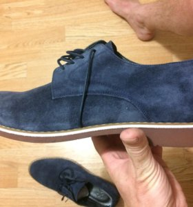Новые замшевые туфли.