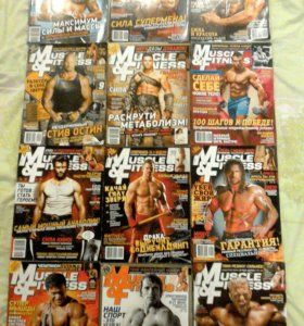 Журналы MUSCLE AND FITNESS 12шт.