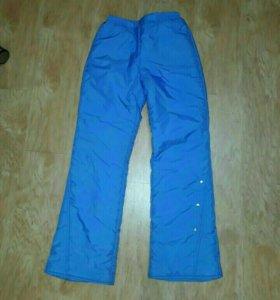 Пуховик и болоневые штаны