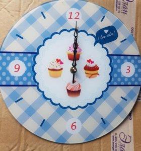 Часы настенные стекло