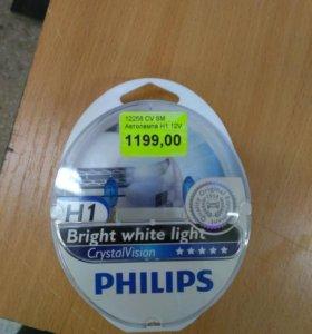 Лампы Н1 Philip's Crystal Vision новый комплект