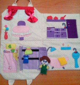 Сумочка-домик для куклы
