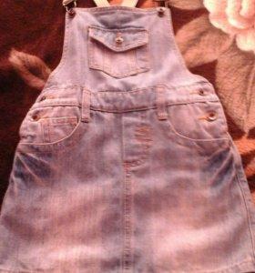 новый джинсовый сарафан.