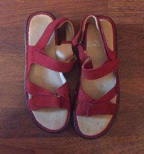 Новые сандали кожа и замша + скидка