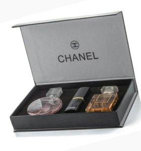 Два набора Chanel 3 в 1