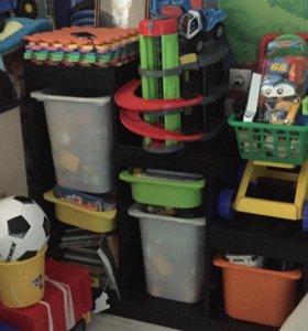 Хранение игрушек, полка
