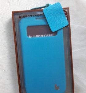 Новый чехол на Samsung galaxy S4 нат.кожа