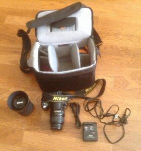 Фотоаппарат Nikon (зеркалка) два объектива