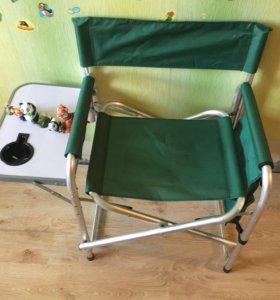 Походный складной стул со столиком