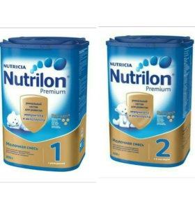 Сухая молочная смесь Nutrilon Premium 1 и 2(800 г)