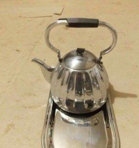 Мельхиоровый электрический чайник(Раритет)