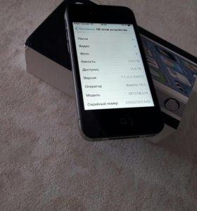 iPhone 4 16 Гб черный с документами рст