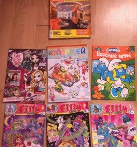 6 журналов девочкам и каталог Красивые Квартиры.