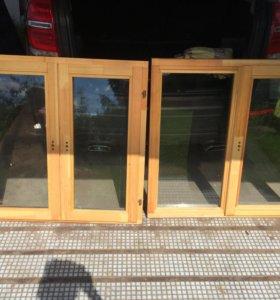 Деревянные окна из ангарской сосны