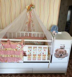 Продам детскую кроватку +матрац в подарок одам бор