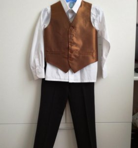 Брюки+рубашка+жилет