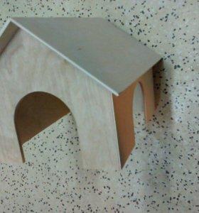 Домик для свинок, шиншилл 30*25*20 дерево