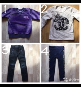 Одежда на девочку пакетом 3-4 г