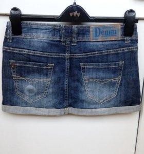Юбка джинсовая новая Bershka