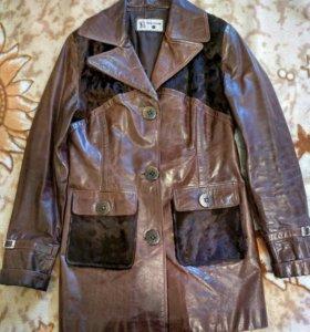 Куртка пиджак, натуральная кожа