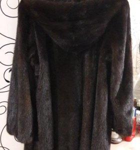 Норковая шуба с капюшоном р 42-44-46