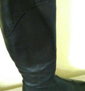 Сапоги черные