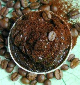 Мягкое мыло-скраб бельди кофейное, антицеллюлитное