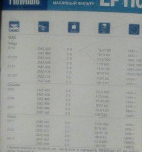 Масляные фильтры на автомобили Газ